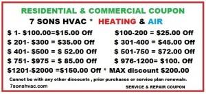 7sonshvac heat & ac discount repair coupon